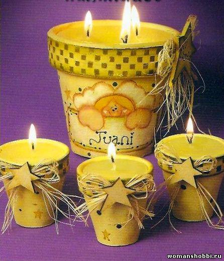 Как сделать свечу дома из старых свечей