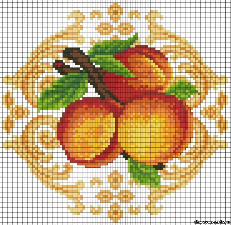 Схемы вышивки крестом персик 13