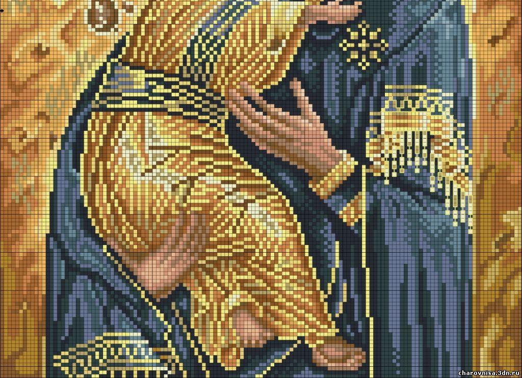 Схема вышивки крестом иконы жировицкой 35