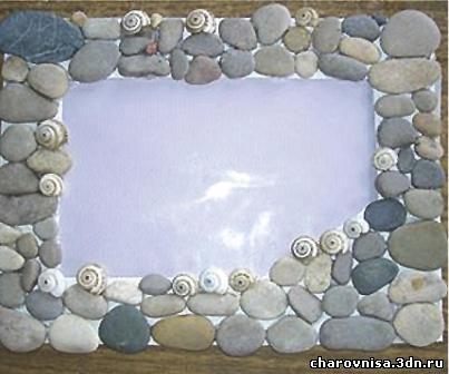 Фоторамка из камней своими руками 364